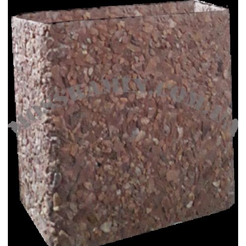 Увеличение дымохода из бетона терракот (для большой жаровни)