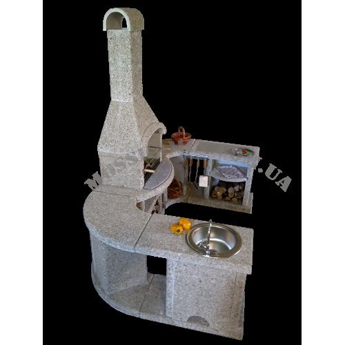 Модульный гарнитур для барбекю «Премиум» кварц (песочный)