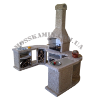 Модульный гарнитур для барбекю «Премиум» мрамор (терракот)